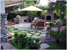 backyards fascinating kitchen island on stone patio 91 build