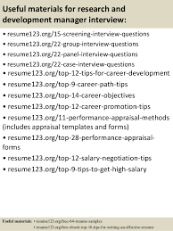 Sample Resume Objectives For Customer Service by Top 8 Research And Development Manager Resume Samples