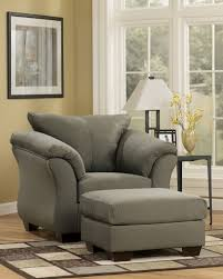 ashley furniture chair and ottoman darcy sage chair signature design by ashley furniture