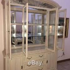 china cabinet buffet hutch sandstone solid oak glass door lights