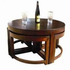 Coffee Table With Stools Underneath Round Coffee Table With Stools Foter