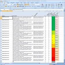 requirements tracking spreadsheet getprojecttemplates