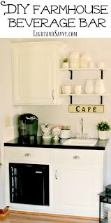 great idea how to tuck a wet bar into a small space or closet