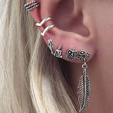 earring with chain to cartilage feather stud cartilage earring stud earrings references