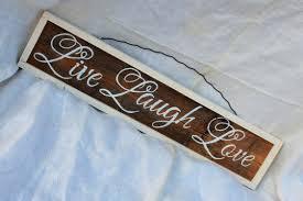 live laugh love signs live laugh love framed cursive wedding sign rustic wedding prop