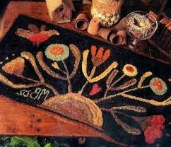 Wool Hand Hooked Rugs 63 Best Payton Primitives Hooked Rug Designs Images On Pinterest