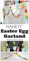 make an easter egg garland with eclectically vintage garlands