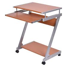 Home Office Computer Desk Amazon Com Portable Rolling Computer Desk Laptop Table Work