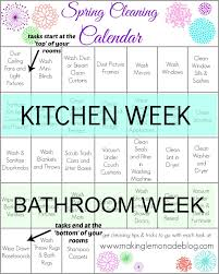 Spring Cleaning Tips Free Printable Spring Cleaning Calendar Making Lemonade