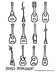 how to draw musical instruments for kids world gitaar sheet