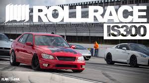 lexus is300 vs toyota mr2 1355hp is300 slipstream roll race pocono raceway youtube