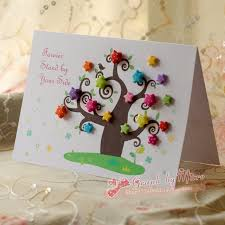 handmade personalized gifts free shipping handmade greeting card three dimensional high