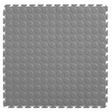 shop perfection floor tile 20 1 2 w x 20 1 2 l light gray raised