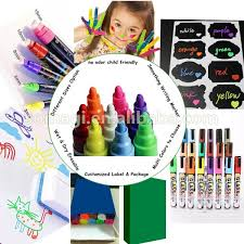 highlighter type kids funny chalk markers game face and hair