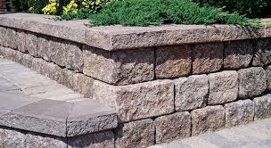 precast concrete retaining wall blocks 33 with precast concrete