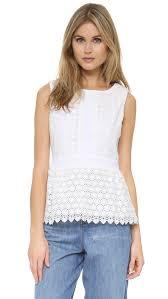 dvf blouse lyst diane furstenberg tavita blouse in white
