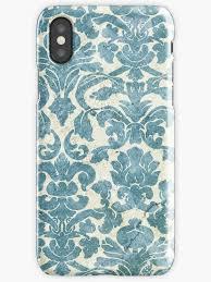 light blue vintage floral wallpaper