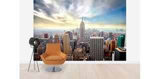 Design House Skyline Yellow Motif Wallpaper New York Wallpaper U0026 Wall Murals Photowall Com