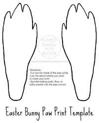 Paw Print Template by Les 25 Meilleures Idées De La Catégorie Bunny Paws Sur