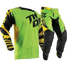 youth thor motocross gear thor 2017 mx kids new fuse dazz green yellow jersey pants youth