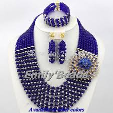 beads wedding necklace images 2016 latest nigerian wedding african beads jewelry set royal blue jpg