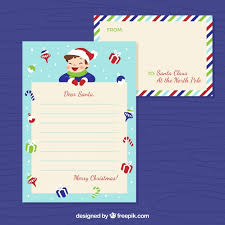template of a letter to santa from a boy vector free download