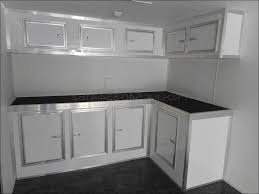 kitchen long kitchen cabinets aluminum trailer cabinets mobile