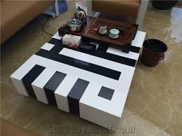 Black And White Coffee Table Black And White Tea Tables Manmade Coffee Tables Furniture