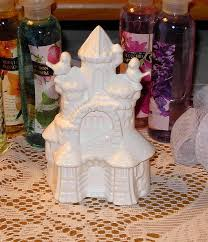 ceramic sand castle wedding cake topper