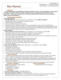Aircraft Mechanic Resume Template Aviation Resume Examples Good Headline For Resume Resume Sample