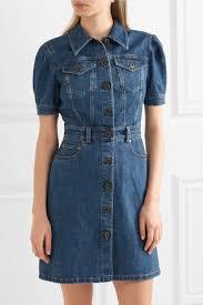 miu miu denim mini dress net a porter com