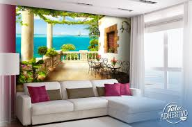 wall mural terrace with sea view wall murals terrace with sea view