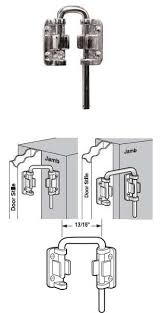 Security Lock For Sliding Patio Doors Wgsonline Sliding Patio Door Loop Lock Security Lock 13 16 Width
