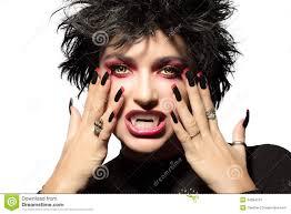 maquillage gothique homme vampire fille gothique de beauté photo stock image 44193640