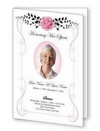 funeral program template bifold single fold funeral program templates