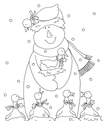 snowman and christmas free christmas coloring pages snowman