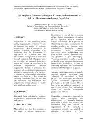an empirical framework design to examine the improvement in