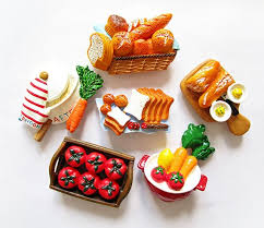 simulation 3d cuisine simulation food breakfast tomato cutting board 3d fridge magnets
