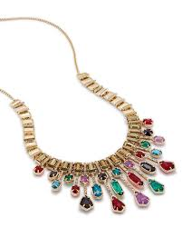 multi statement necklace images Bette brass statement necklace in jewel tones kendra scott jpg