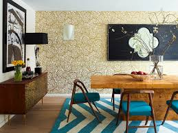 Dining Room Accents Wallpaper Chic Accent Wall Bedroom Living Room Dining Room Design