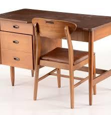 danish modern secretary desk mid century modern mainline by hooker walnut desk ebth