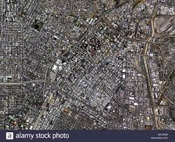 Map Los Angeles Ca by Aerial Map View Above Downtown Los Angeles California Stock Photo
