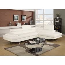 Leather Modern Sectional Sofa Baxton Studio Selma White Leather Modern Sectional Sofa Hayneedle