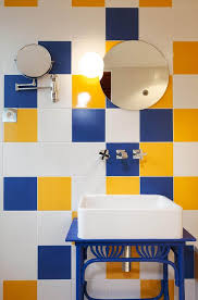 cool blue and yellow bathroom pictures designs ideas color paint