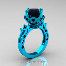turquoise wedding rings modern antique 14k turquoise gold 3 0 carat black
