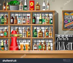 bar counter illustration stock vector 191777402 shutterstock