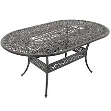 Cast Aluminium Outdoor Furniture by Rosedown 7 Piece Cast Aluminum Patio Dining Set With 2 Swivel