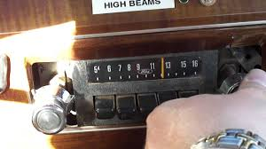 1970 u0027s philco ford am radio in lincoln town car youtube