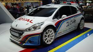 peugeot car 2012 peugeot 208 type r5 rally car powers into paris