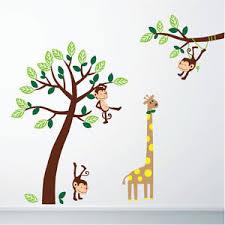 Monkey Nursery Wall Decals Monkey Giraffe Jungle Nursery Wall Stickers Wall Decals
